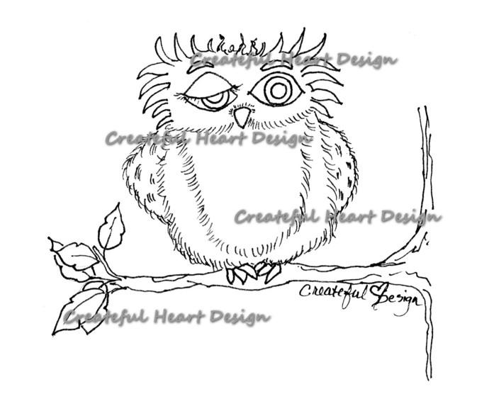 Tree Al, (Owl), digital stamp