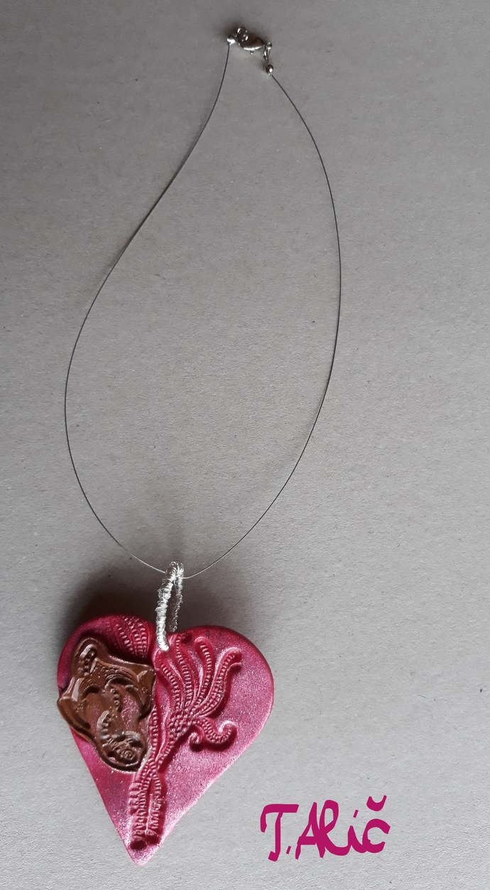Handmade necklace material for by unique handmade jewelry on zibbet handmade necklace material for pendant polymer clay product 2092018 aloadofball Images
