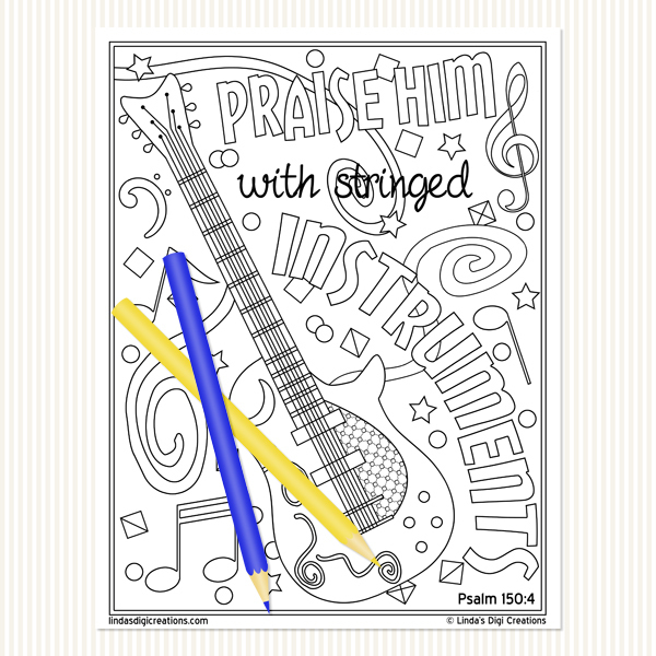 Praise The Lord_Printable Adult Coloring Pages