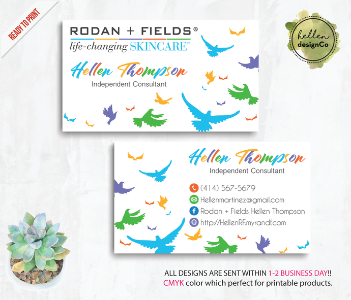 Personalized rodan and fields business cards by digitalart on zibbet personalized rodan and fields business cards rodan and fields business cards colourmoves