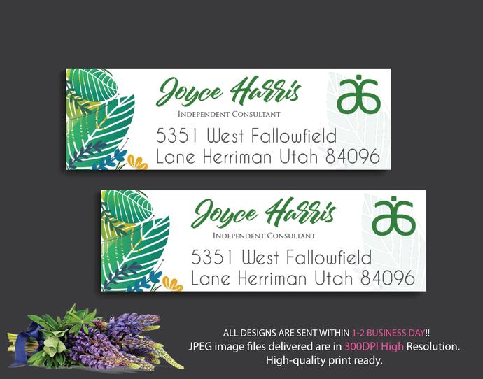 Arbonne Address Labels, Personalized Return Address Labels, Arbonne Consultant