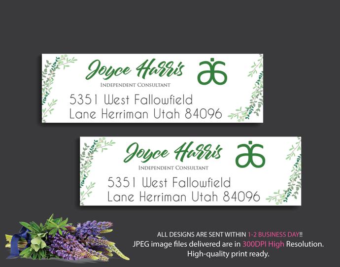 Personalized Return Address Labels, Arbonne Address Labels, Arbonne Consultant