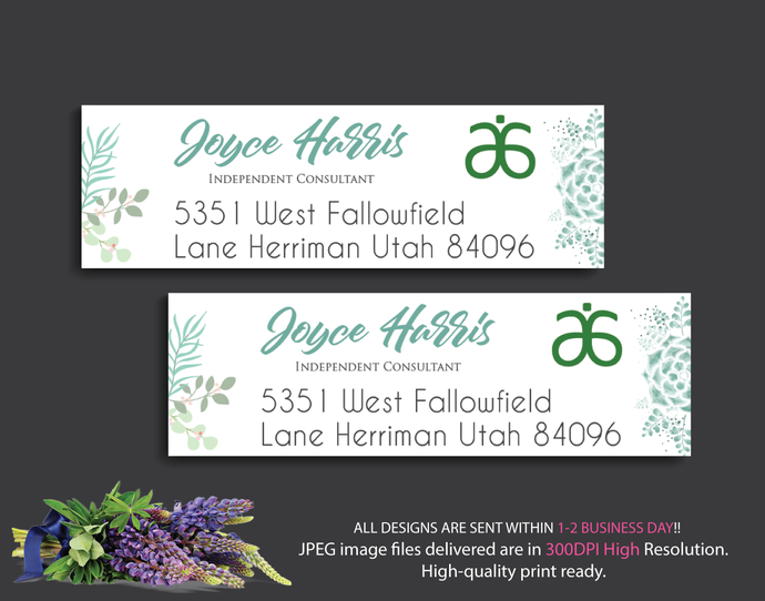 Arbonne Address Labels, Arbonne Consultant Cards, Personalized Return Address