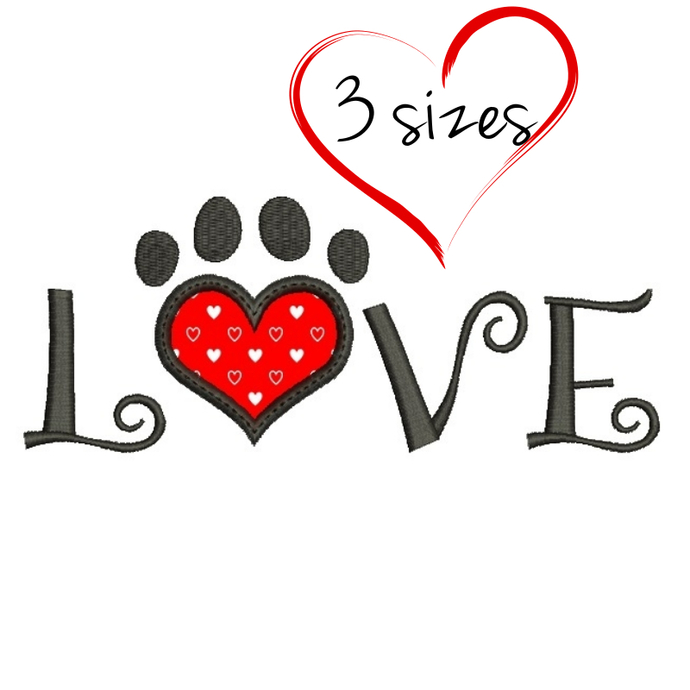 Embroidery Designs Love Paw Valentine S By Gretaembroidery On