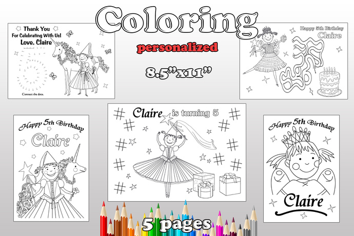 Pink Girl coloring pages, Pink Girl Birthday Party, pdf