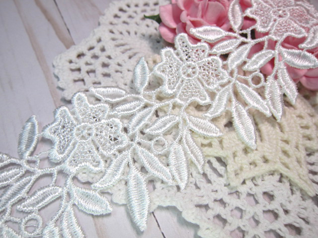 Stl 9pc floral venice applique lace by natashascrapbookorner on zibbet