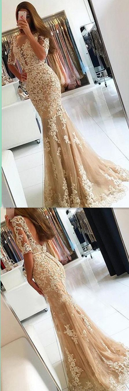 Mermaid Appliques Prom Dress,Long Prom Dresses,Charming Prom Dresses,Evening
