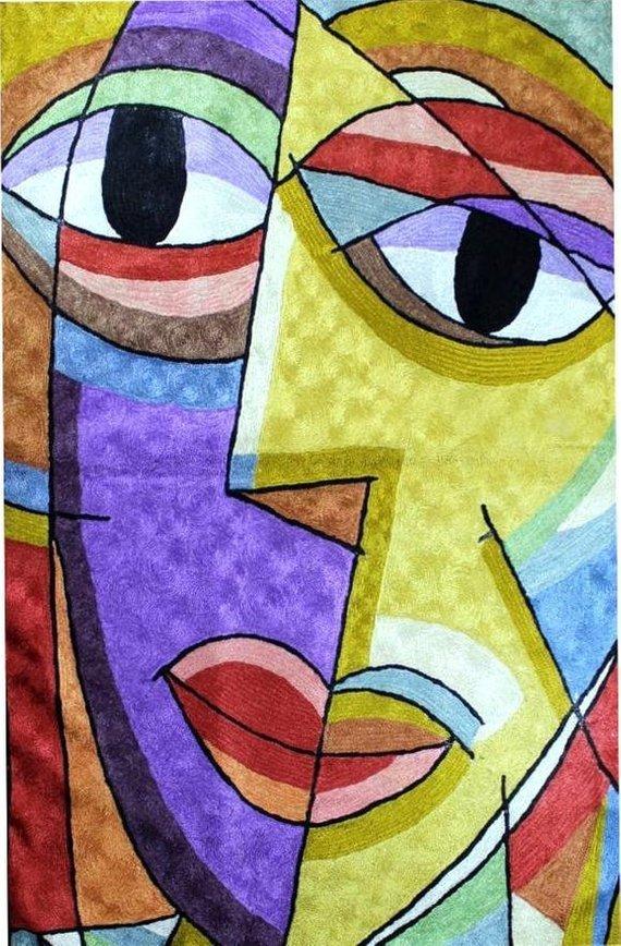 Picasso-decorative-purple-yellow-dual-face by DesignerKashmir on