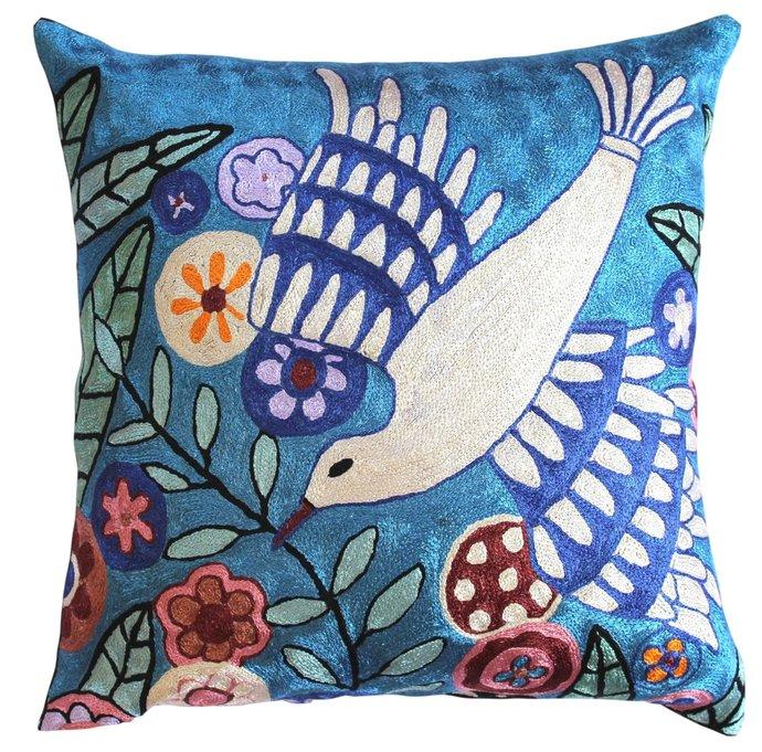 Karla Gerard Jacquard Bird On The Tree By DesignerKashmir On Zibbet Simple Decorative Throw Pillows With Birds