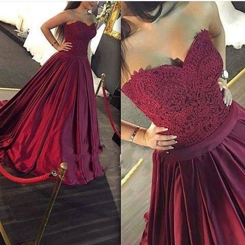 Burgundy Prom Dresses,Wine Red Evening Gowns,Modest Formal Dresses,Burgundy Prom