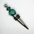Glass Lampwork bead decorated stainless steel wine bottle stopper with Green