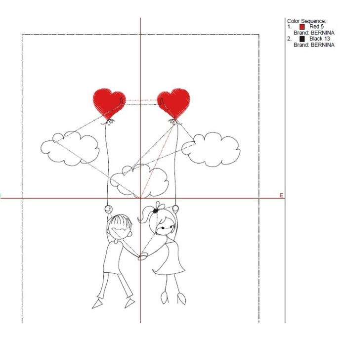 Valentine's day embroidery machine designs wedding pattern heart marrriage