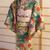 Doll kimono blue green kimono set for Silkstone Barbie dolls and similar sized