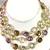 925 Sterling Silver Semi Precious Mulit Color stone Chain Jewelry Necklace