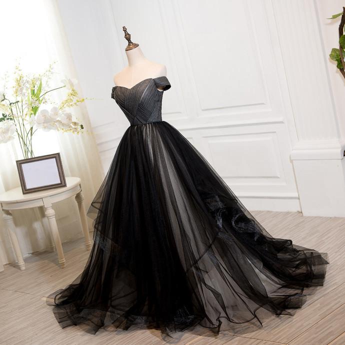 Black Tulle Sweet 16 Dress, Black Off by BeMyBridesmaid on Zibbet