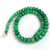 Semi Precious Apple Green Chrysophase Hand polished Roundel Beads necklace