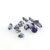 Precious Loose Gemstone Sapphire  Diamond Cut faceted 2mm Round Flawless Stones