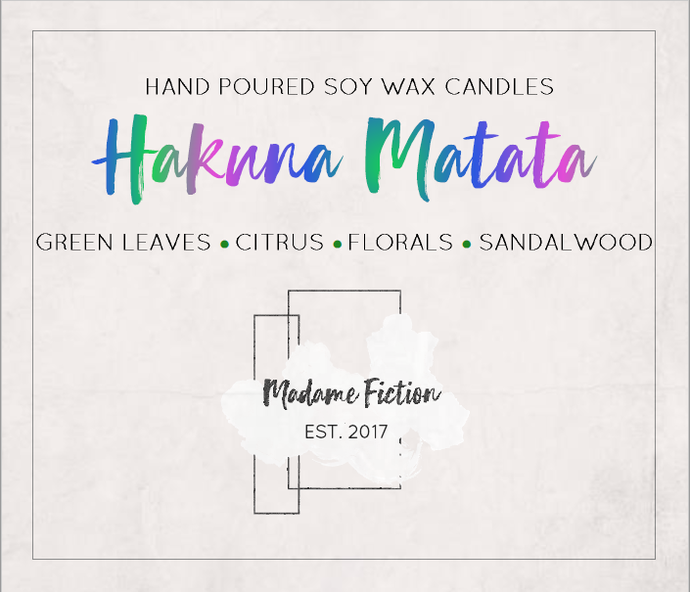 Hakuna Matata - 1.5oz Candle - The Lion King - Scented Soy Candle - Book Lover