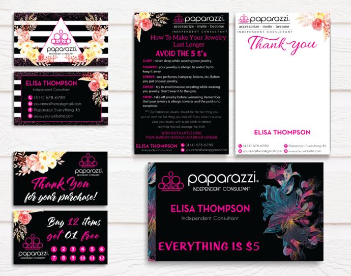 Paparazzi Jewelry Consultant Branding Set, Paparazzi Marketing Kit, Paparazzi