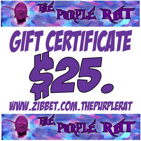 Gift Solution - A Purple Rat Gift Certificate