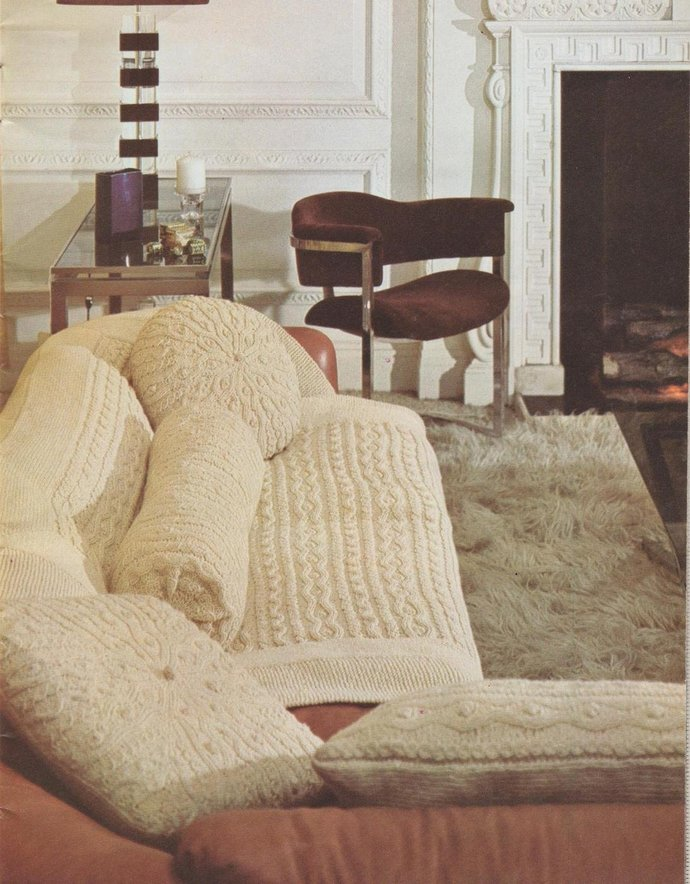 Instant Digital Download PDF Vintage Row by Row Knitting Pattern Superb Aran