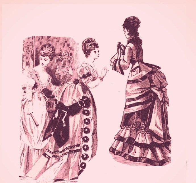 Instant PDF Digital Download Vintage Sewing Pattern to make A Victorian Bustle