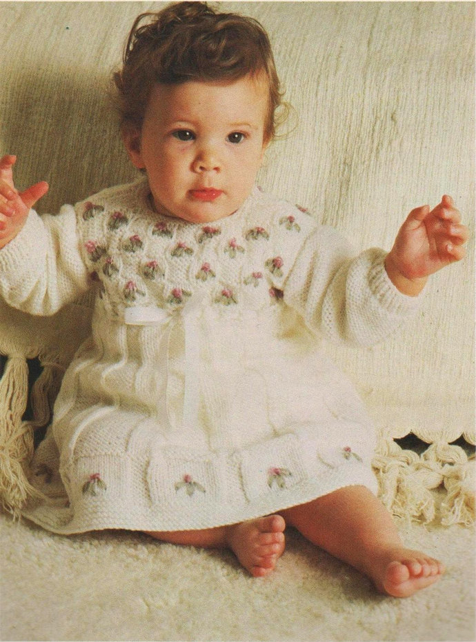 Instant Digital Download PDF Vintage Knitting Pattern A Baby's EASY Long Sleeved