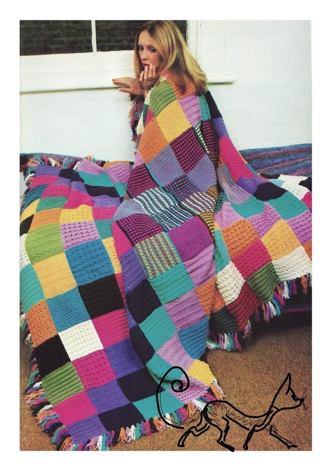 Instant PDF Download Easy Beginner's Vintage Knitting Pattern to make a Vibrant