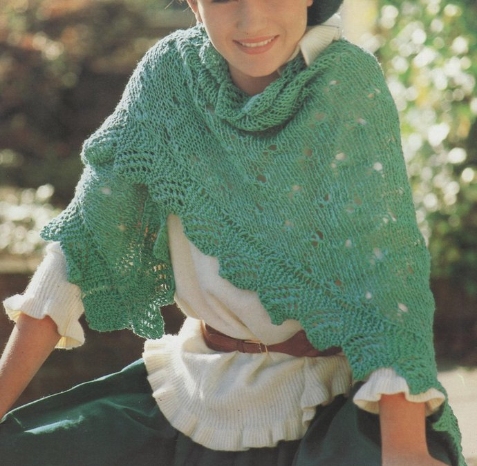 Instant PDF Download Vintage Quick Row by Row Knitting Pattern Ladies Pretty