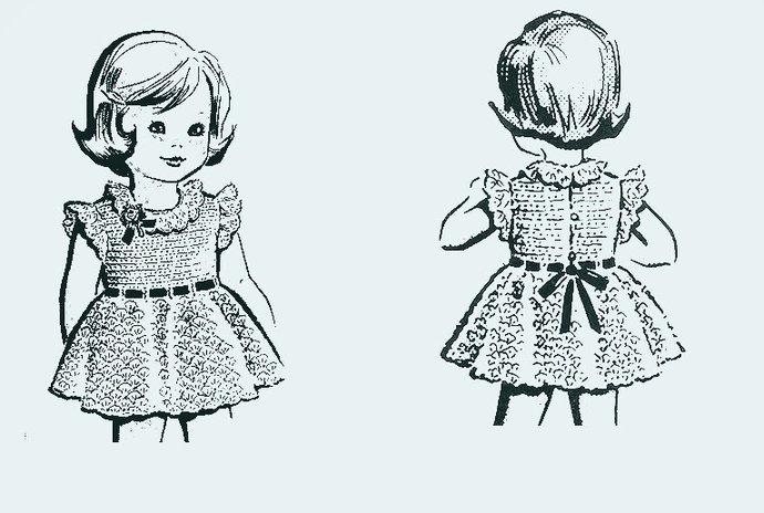Instant PDF Download Vintage Crochet Pattern to make A Little Girl's Pretty