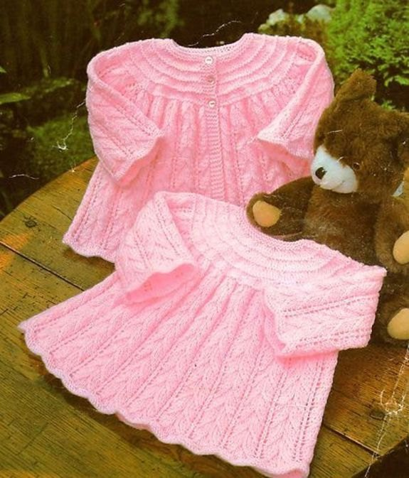 Instant PDF Digital Download Vintage Row by Row Knitting Pattern Baby Textured