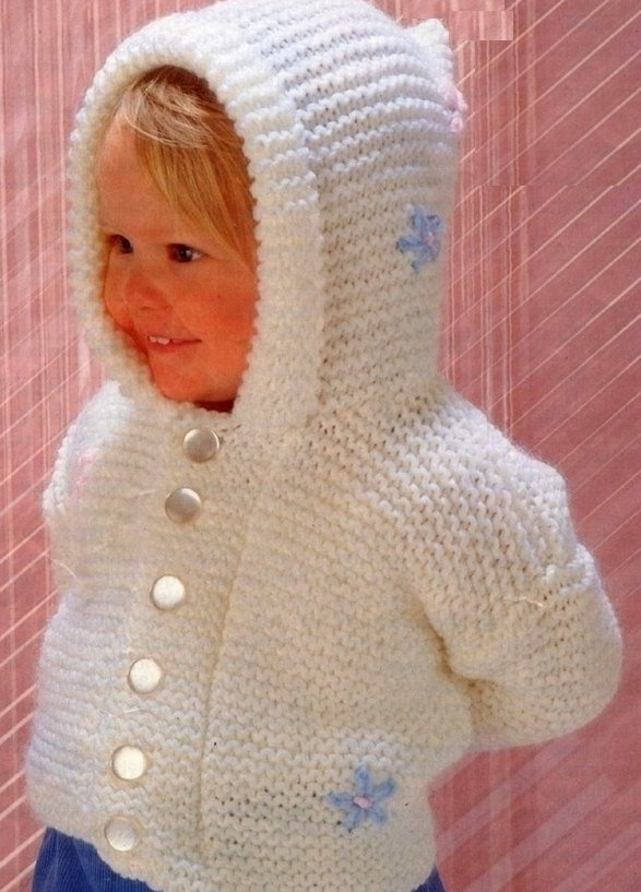 Instant PDF Digital Download Vintage Knitting Pattern to make Baby Bebe Toddlers