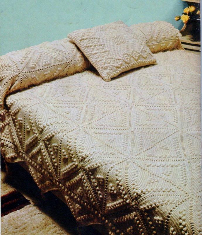 Instant PDF Download Vintage Crochet Pattern A Granny Square Patchwork Aran