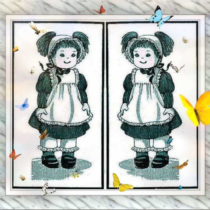 "Instatn PDF Digital Download a Vintage Sewing Pattern Pigtails A Cute 22"""