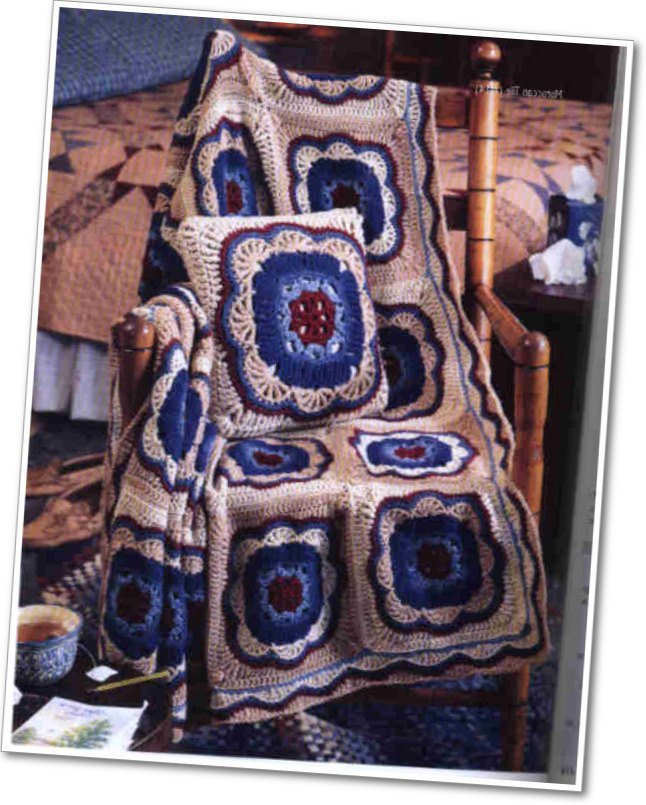 Instant Digital Download PDF Vintage Crochet Pattern to make a Super Granny