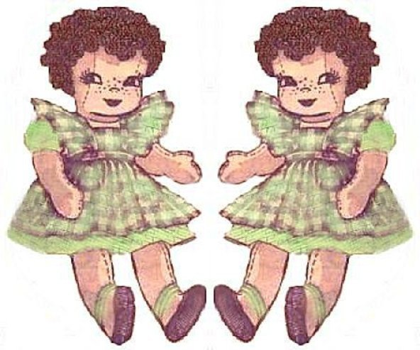 Instant PDF Digital Download A Vintage Alice Brooks Sewing Pattern A Curly Hair