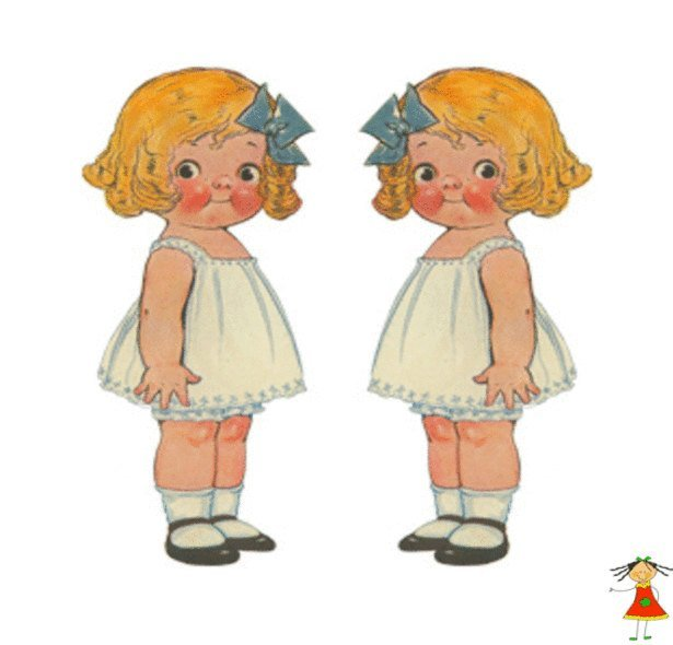 "Vintage Sewing Pattern to make A Dolly Dingle Soft Body Doll 12"" & Her Little"