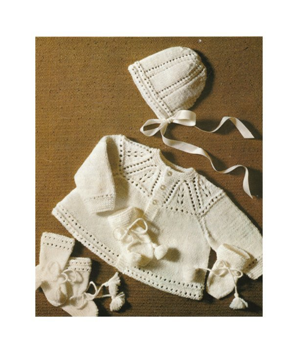 Instant PDF Digital Download Vintage Row by Row Knitting Pattern PDF Baby