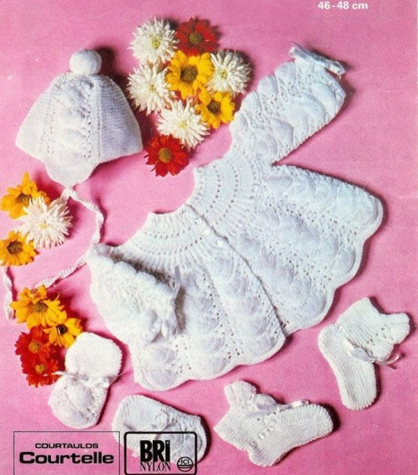 Instant PDF Digital Download Vintage Row by Row Knitting Pattern Baby Wavy