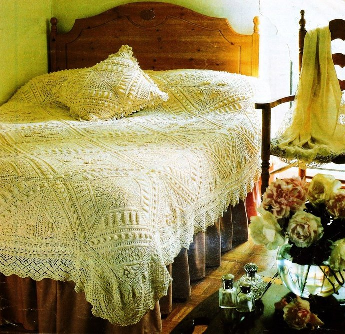 Instant  Digital Download PDF Vintage Row by Row Knitting Pattern A Beautiful