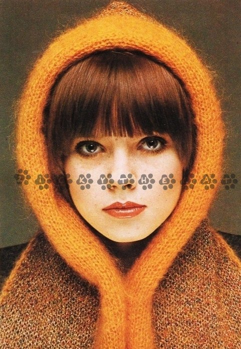 Easy Quick Vintage Knitting PDF Pattern to make a Ladies One Size Cowl or Hood