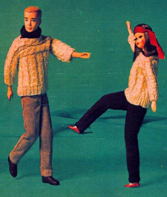 Instant PDF Digital Download Vintage Knitting Pattern to make Teenage Dolls