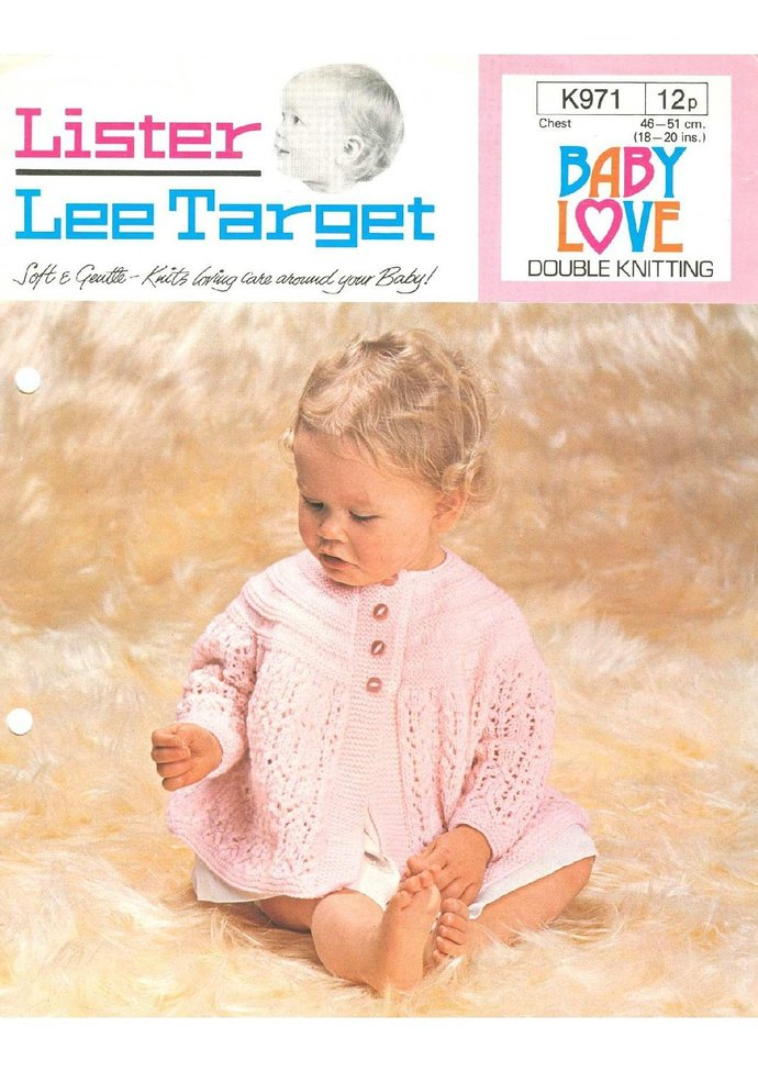 Instant PDF Digital  Download Vintage Row by Row Knitting Patterns to make Baby