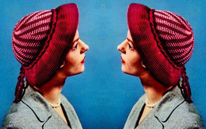 Instant PDF Download Vintage Fifties Crochet Pattern to make a Ladies Irregular