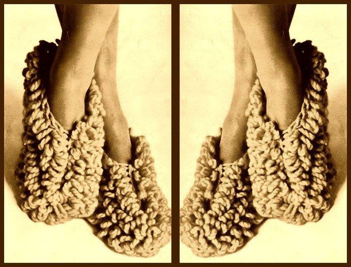 Instant PDF Download Vintage Sixties Crochet Pattern to make Ladies Quick Slip