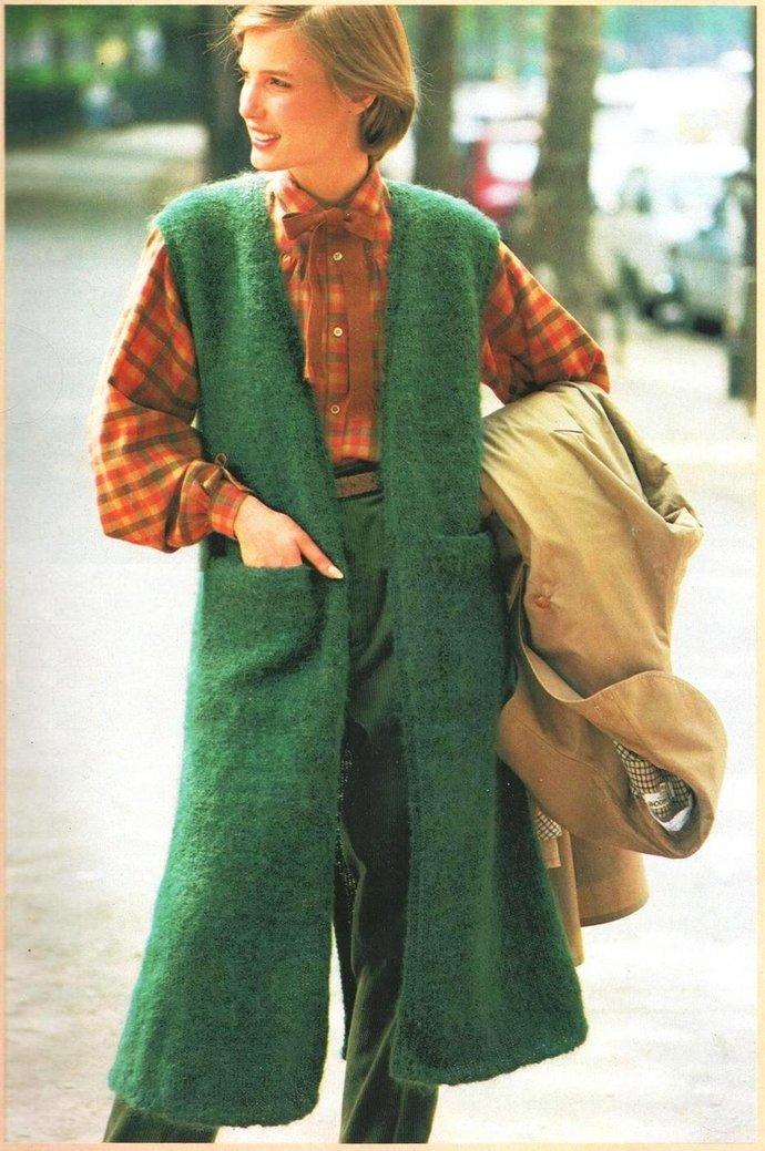 ALMOST FREE Instant Download PDF Vintage Easy  Knitting Pattern Ladies Below