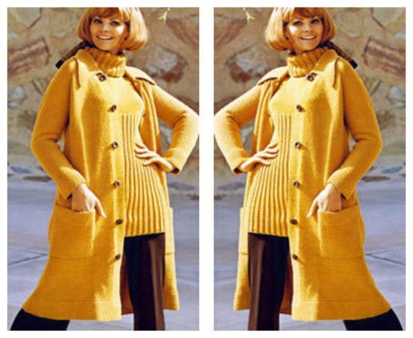 ALMOST FREE Instant Download PDF Vintage Knitting Pattern Ladies Calf Length
