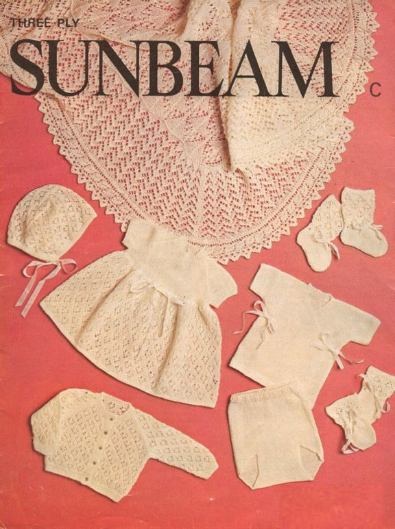 Instant PDF Digital Download Vintage Knitting Pattern A Baby Lacy