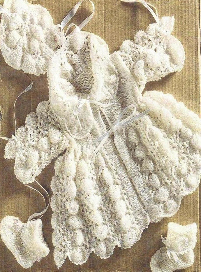 Instant PDF Download Vintage Row by Row Knitting Pattern Baby's Beautiful