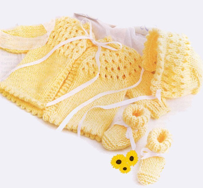 Instant PDF Digital Download Vintage Knitting Pattern to make Baby Clothes A